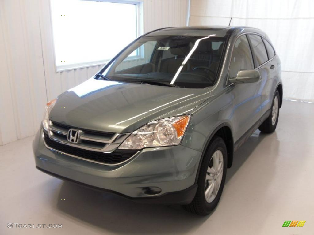 2010 CR-V EX-L - Opal Sage Metallic / Ivory photo #1