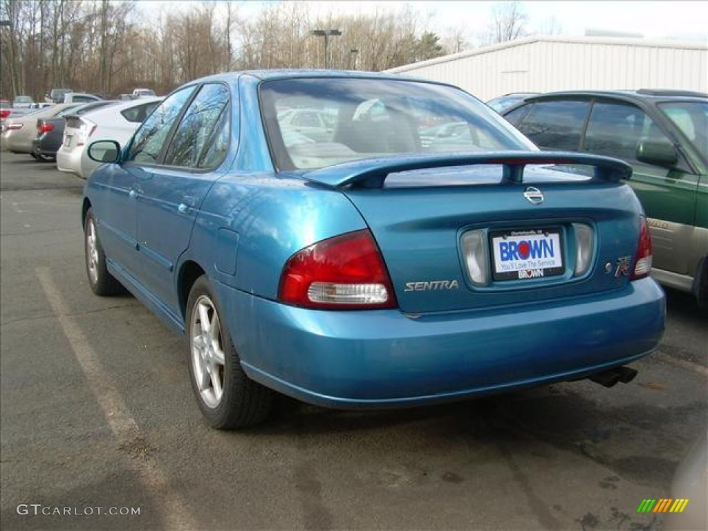 2002 vibrant blue metallic nissan sentra se r 27449654. Black Bedroom Furniture Sets. Home Design Ideas