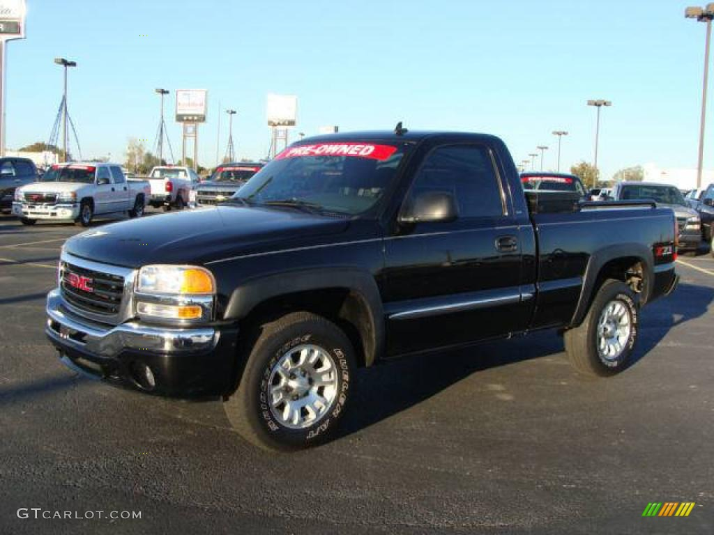 2006 Onyx Black Gmc Sierra 1500 Z71 Regular Cab 4x4