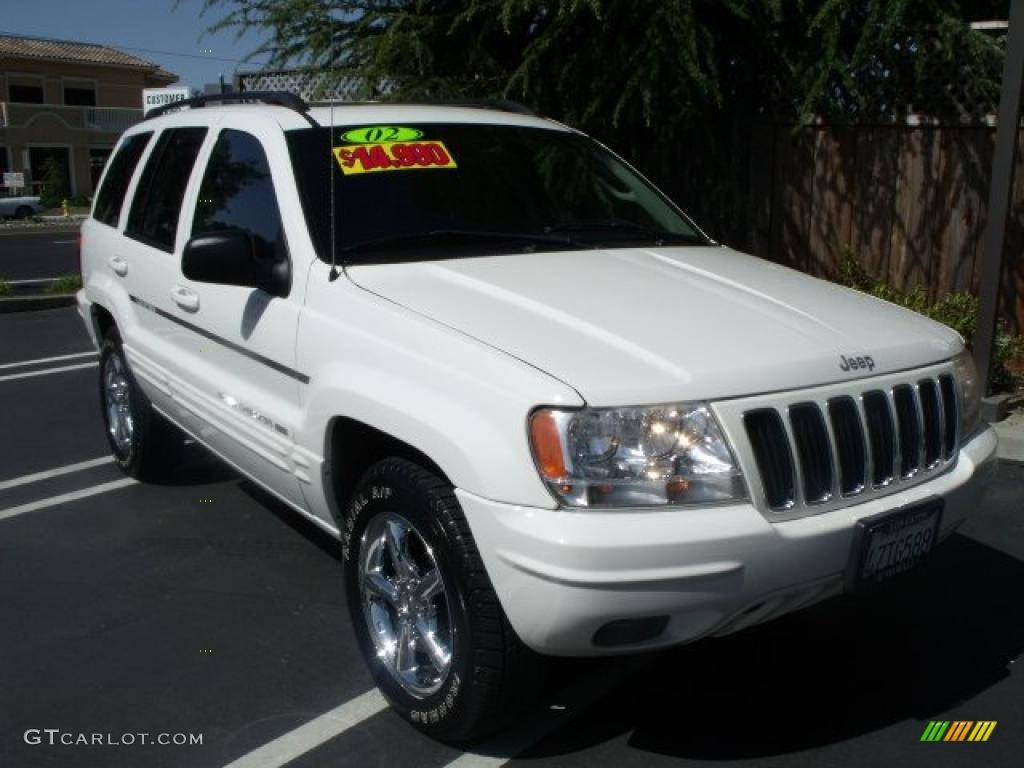 2002 stone white jeep grand cherokee limited 4x4 27449677. Black Bedroom Furniture Sets. Home Design Ideas