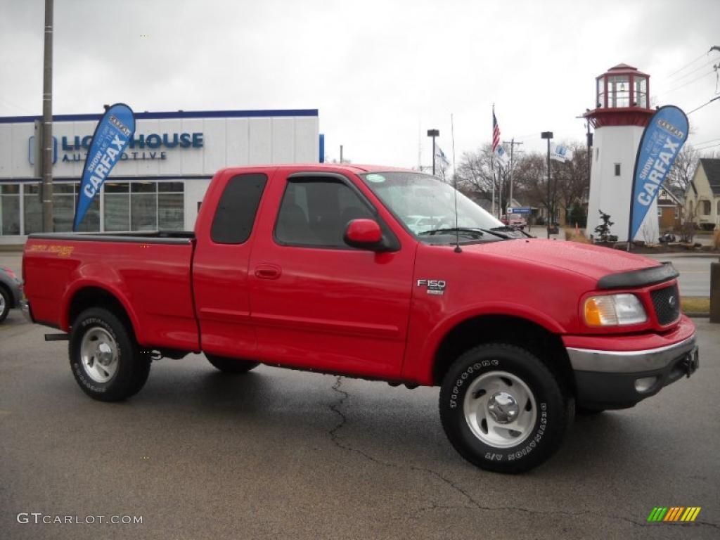 2001 Bright Red Ford F150 XLT SuperCab 4x4 27449766 Car Col