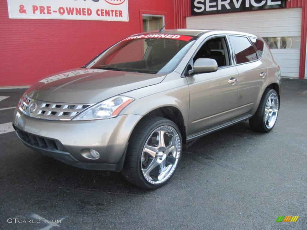 2004 polished pewter metallic nissan murano sl #27499240