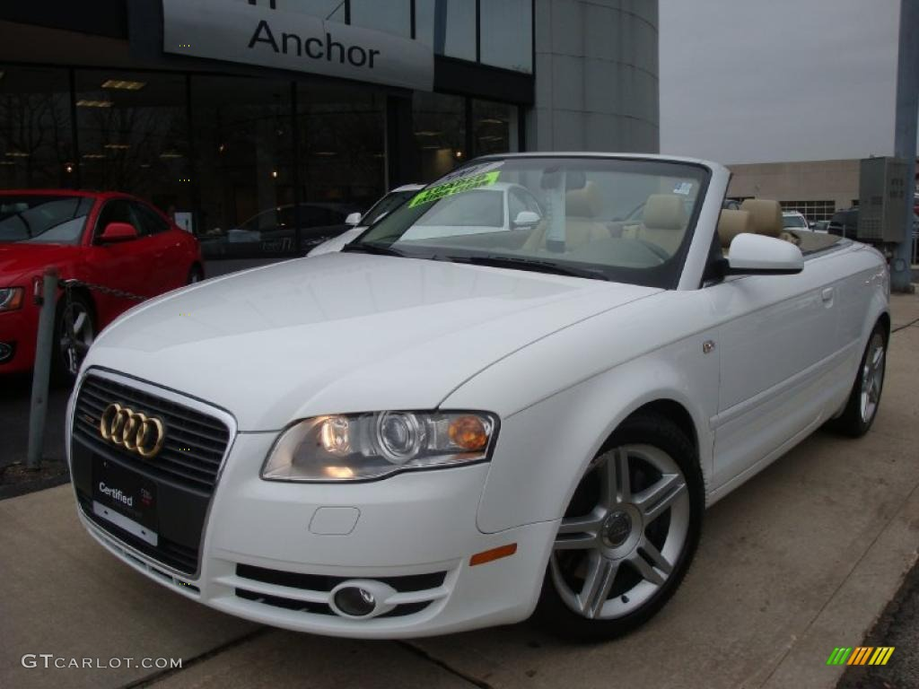 2007 ibis white audi a4 2 0t quattro cabriolet 27499098 car color galleries. Black Bedroom Furniture Sets. Home Design Ideas