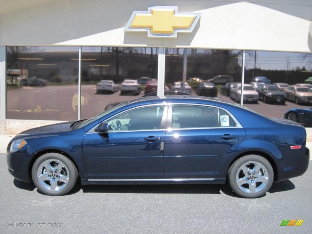 2010 Imperial Blue Metallic Chevrolet Malibu Lt Sedan 27544782 Car Color Galleries