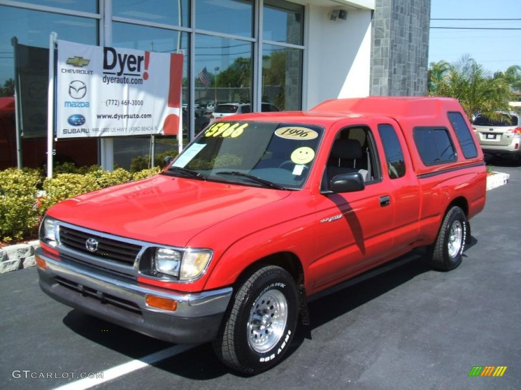 1996 colorado red toyota tacoma extended cab 27544109 car color galleries. Black Bedroom Furniture Sets. Home Design Ideas