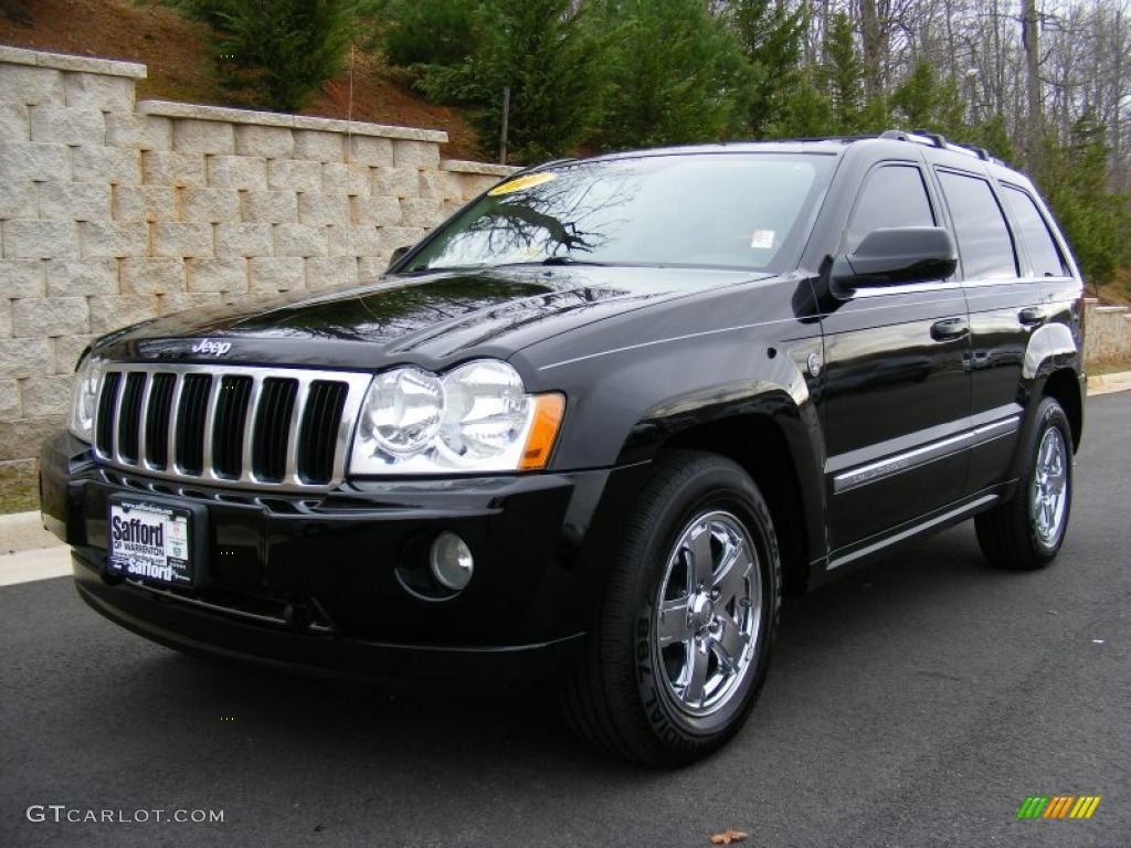 2007 black jeep grand cherokee overland 4x4 27544833 car color galleries. Black Bedroom Furniture Sets. Home Design Ideas