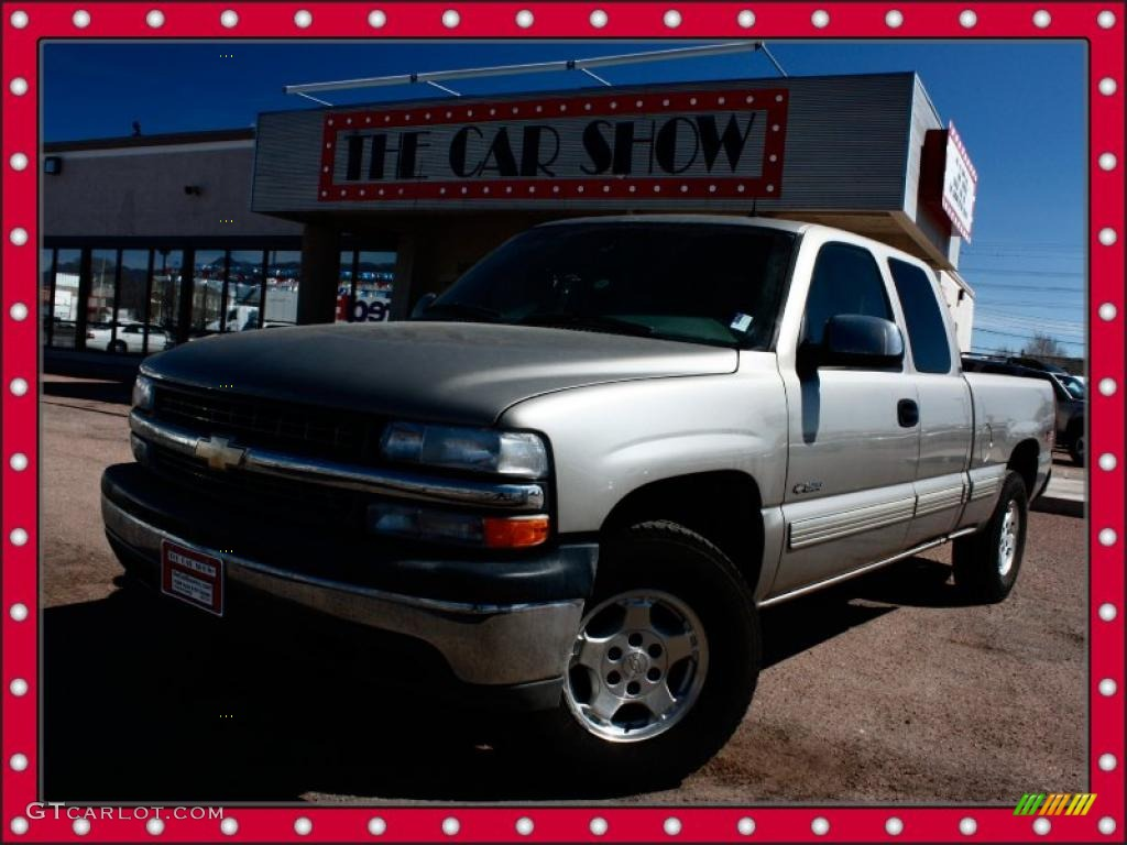 2002 Silverado 1500 LT Extended Cab 4x4 - Light Pewter Metallic / Medium Gray photo #1