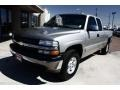 2002 Light Pewter Metallic Chevrolet Silverado 1500 LT Extended Cab 4x4  photo #2