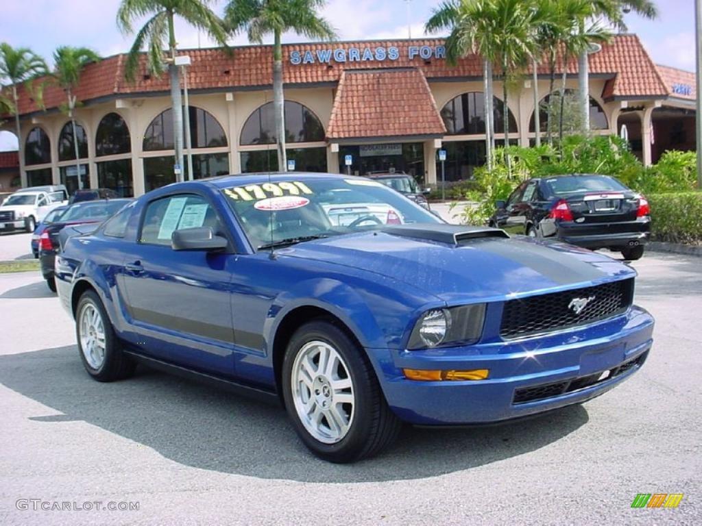 2007 Mustang V6 Premium Coupe - Vista Blue Metallic / Dark Charcoal photo #1