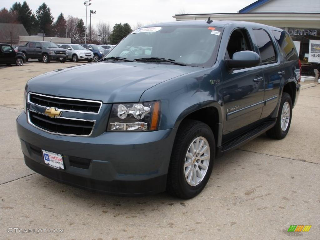 2009 blue granite metallic chevrolet tahoe hybrid 4x4 27544287 photo 8 car. Black Bedroom Furniture Sets. Home Design Ideas