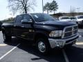 2010 Brilliant Black Crystal Pearl Dodge Ram 3500 Laramie Crew Cab 4x4 Dually  photo #4