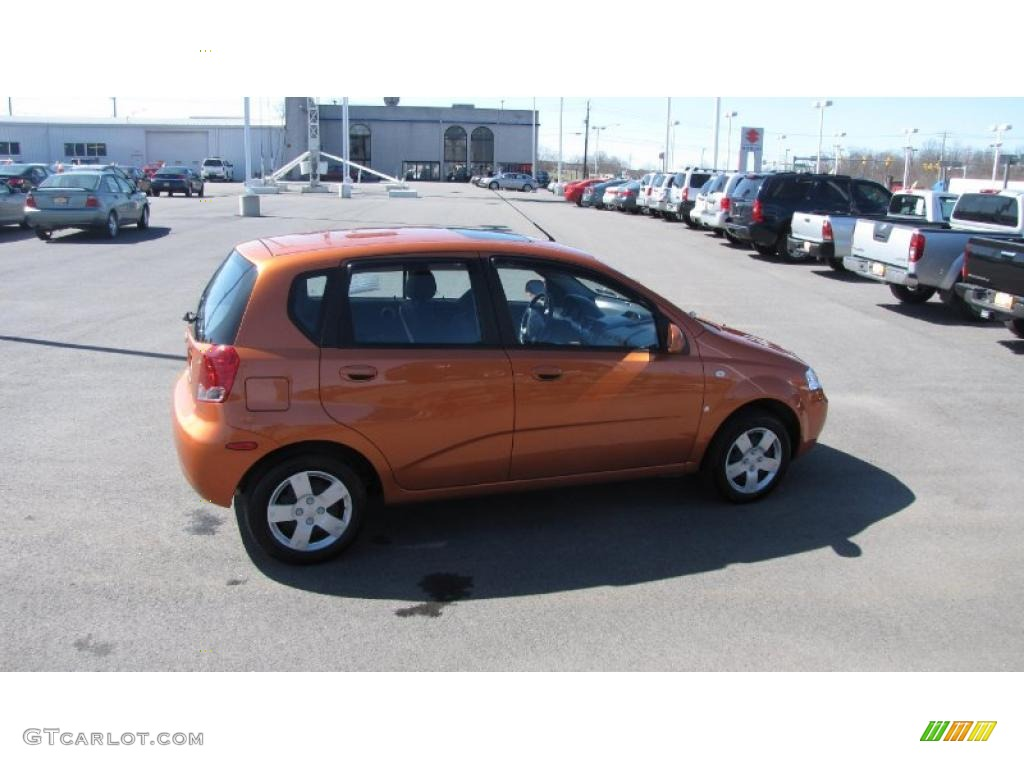 2007 Spicy Orange Chevrolet Aveo 5 Ls Hatchback 27544725