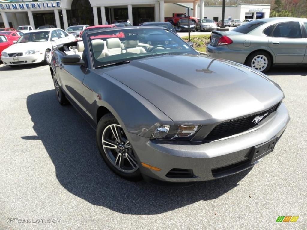 2010 mustang v6 premium convertible sterling grey metallic stone - Ford Mustang Convertible 2010
