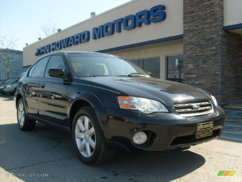 2006 obsidian black pearl subaru outback 25i limited sedan 2006 outback 25i limited sedan obsidian black pearl off black photo 1 vanachro Image collections