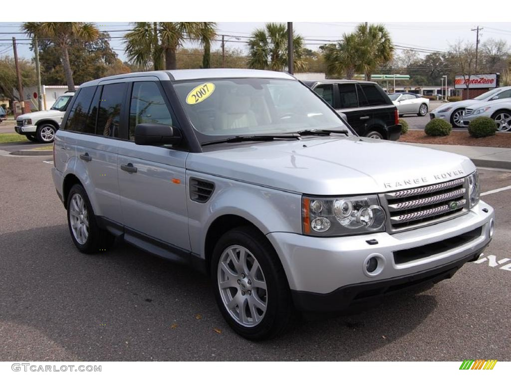 2007 zermatt silver metallic land rover range rover sport hse 27625779 car. Black Bedroom Furniture Sets. Home Design Ideas