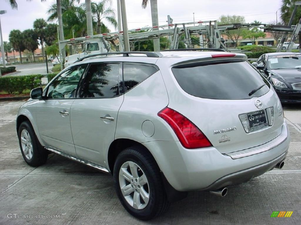 2007 Murano SL - Brilliant Silver Metallic / Charcoal photo #6