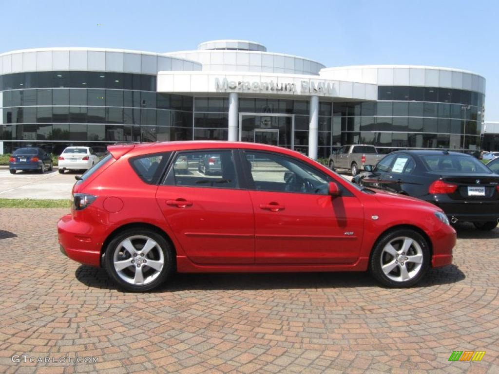2005 velocity red mica mazda mazda3 s hatchback 27625806. Black Bedroom Furniture Sets. Home Design Ideas