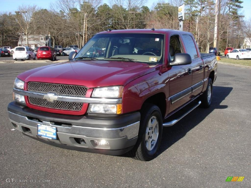 2005 sport red metallic chevrolet silverado 1500 lt crew cab 4x4 27624987 car. Black Bedroom Furniture Sets. Home Design Ideas