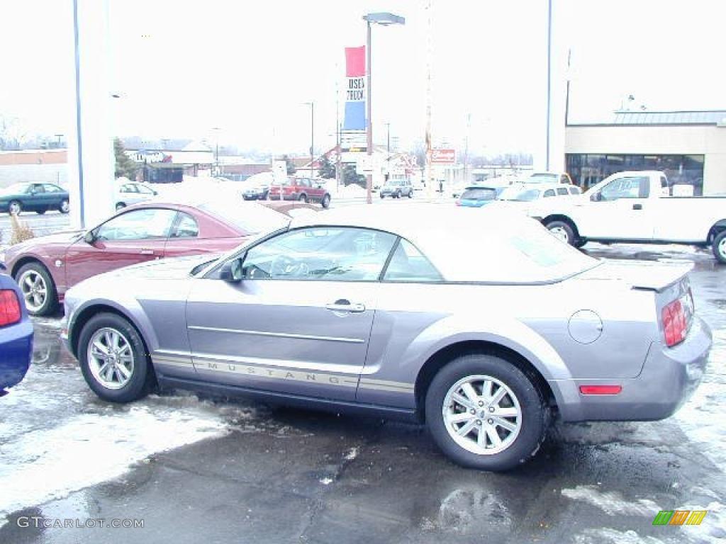 2007 Mustang V6 Premium Convertible - Tungsten Grey Metallic / Medium Parchment photo #1