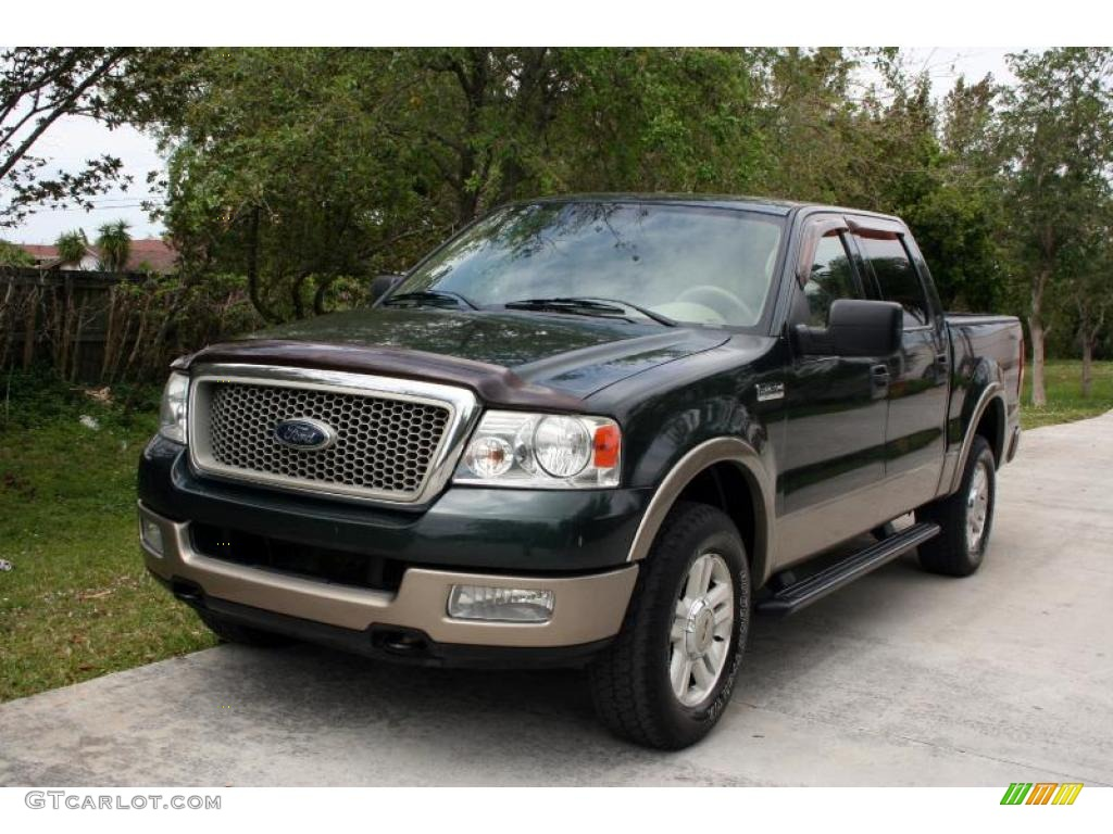 2004 aspen green metallic ford f150 lariat supercrew 4x4. Black Bedroom Furniture Sets. Home Design Ideas