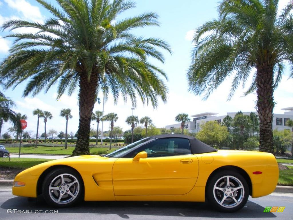 2004 corvette convertible millenium yellow black photo 1