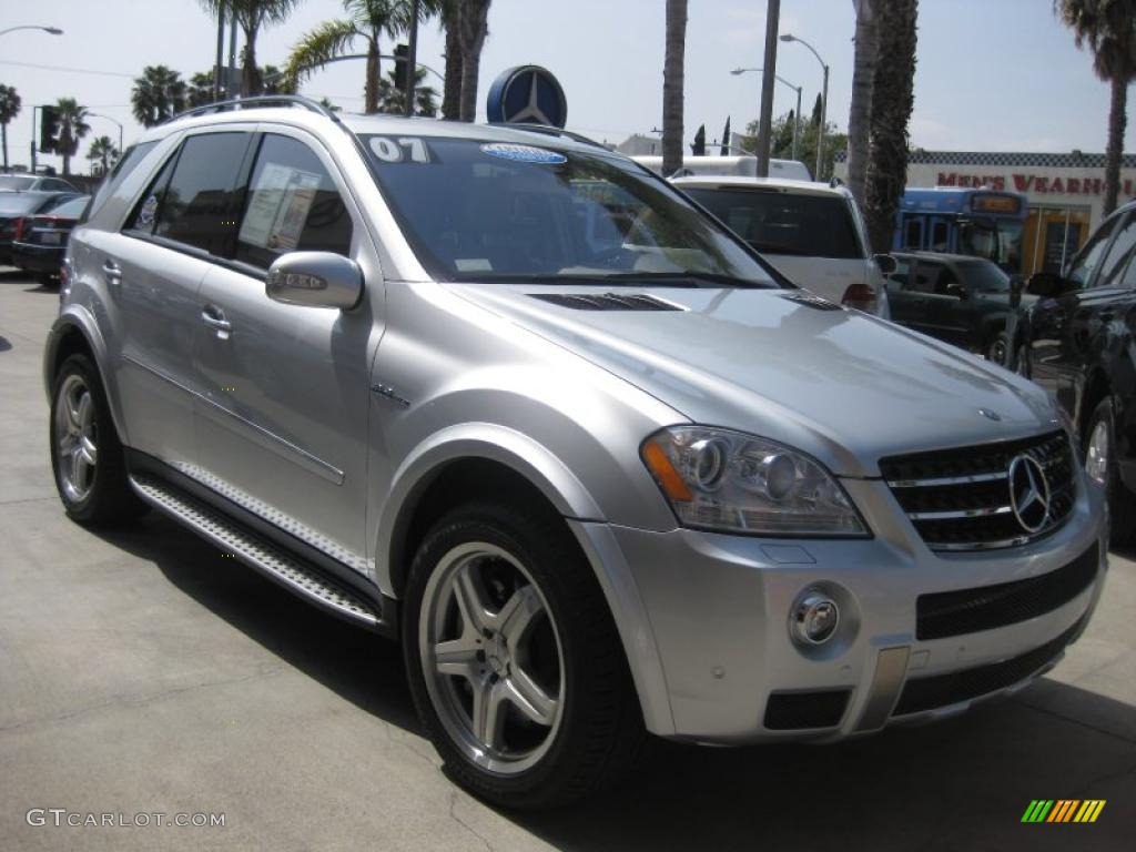 2007 iridium silver metallic mercedes benz ml 63 amg 4matic 27625335 car color. Black Bedroom Furniture Sets. Home Design Ideas