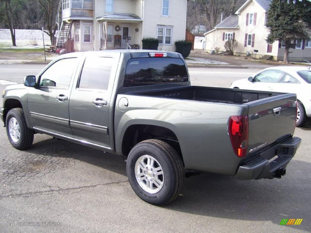 2010 steel green metallic chevrolet colorado lt crew cab. Black Bedroom Furniture Sets. Home Design Ideas