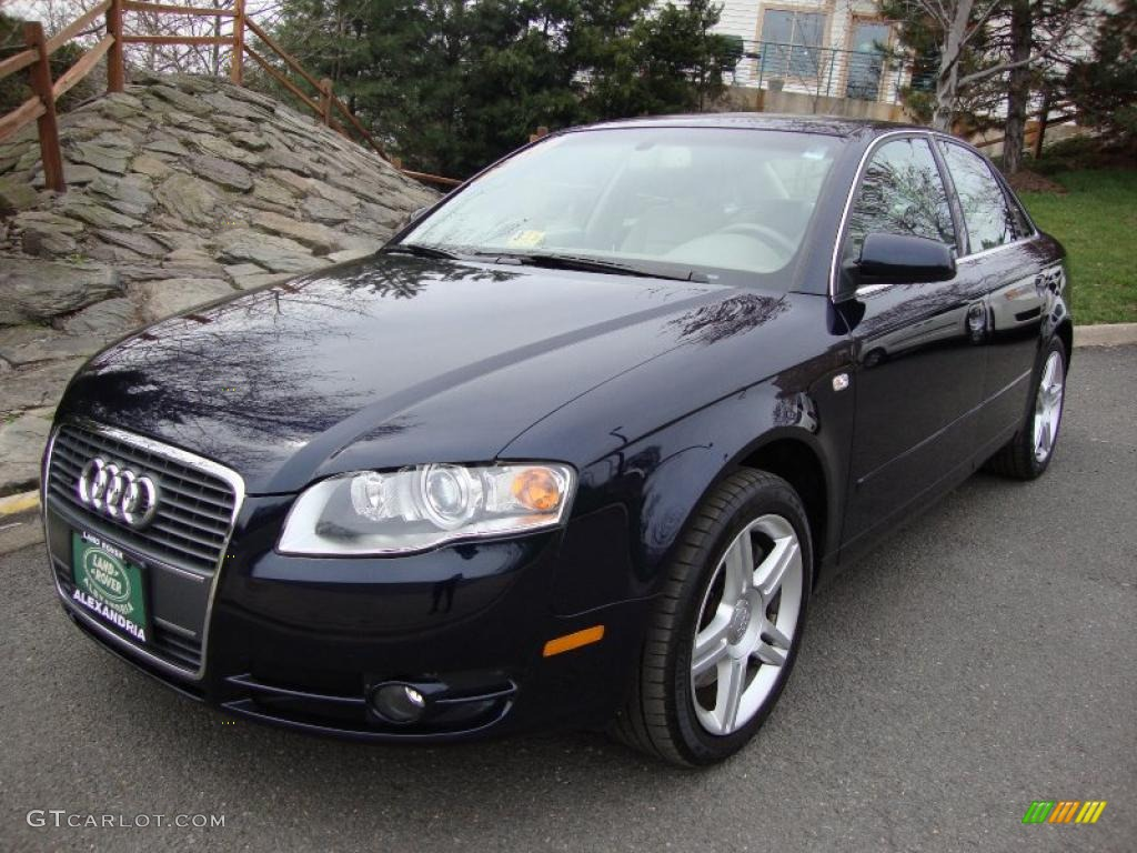 2007 deep sea blue pearl effect audi a4 2.0t quattro sedan