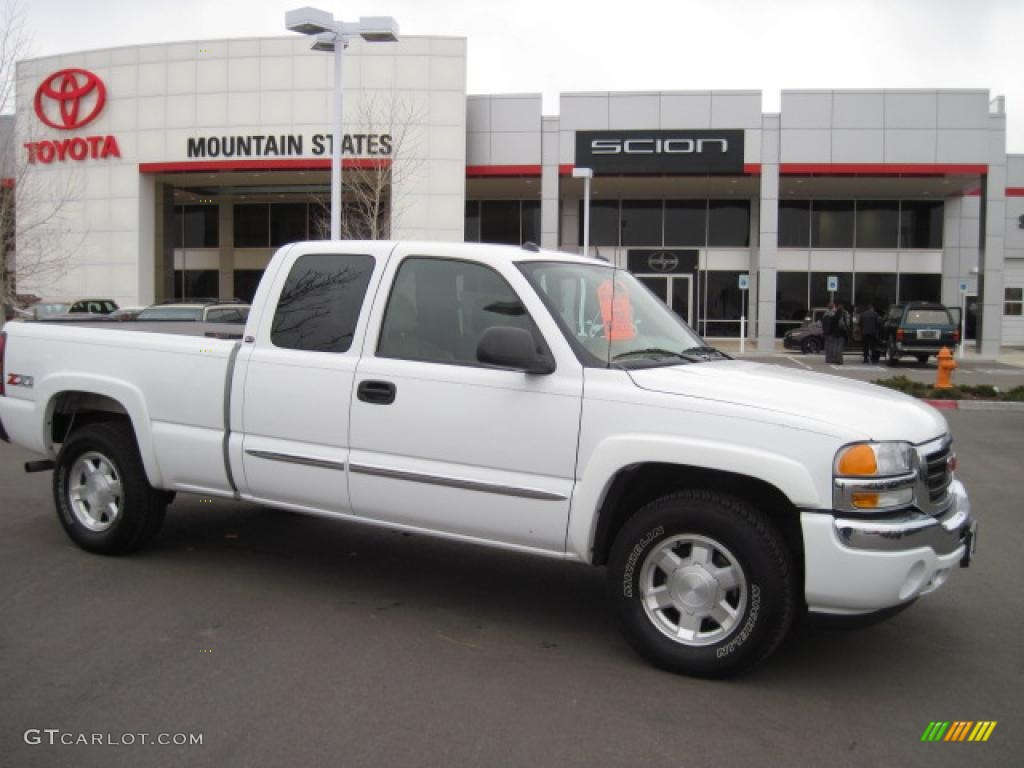 2005 summit white gmc sierra 1500 z71 extended cab 4x4 27649977 car color. Black Bedroom Furniture Sets. Home Design Ideas