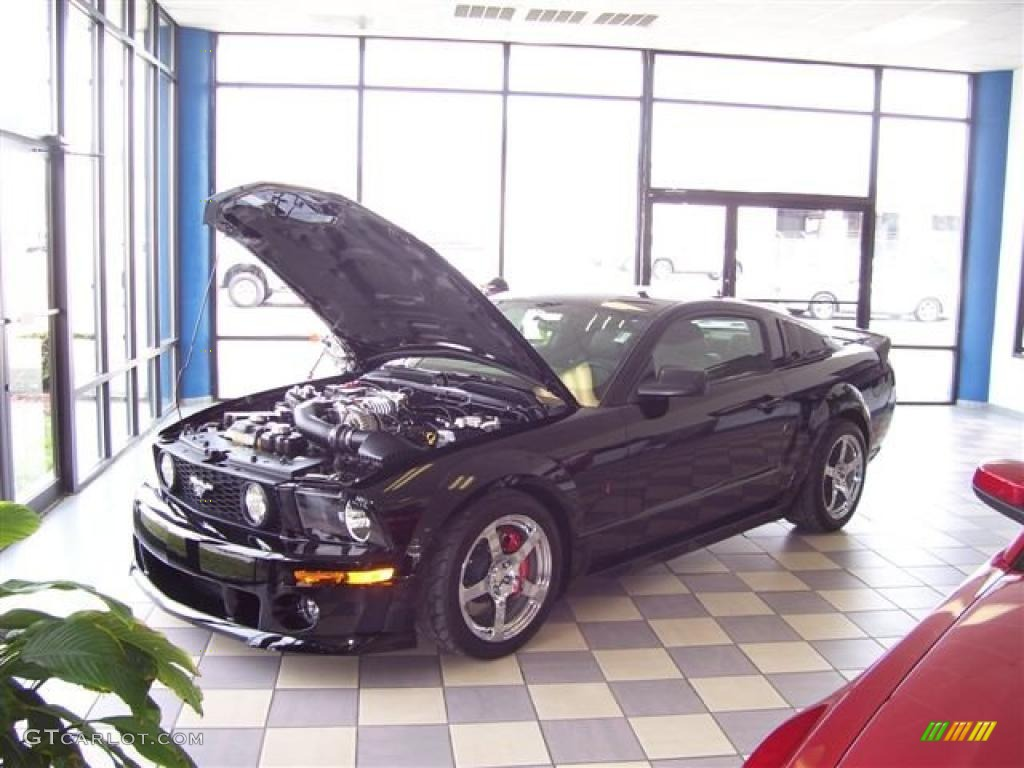 2007 Mustang ROUSH Stage 3 Blackjack Coupe - Black / Dark Charcoal photo #1