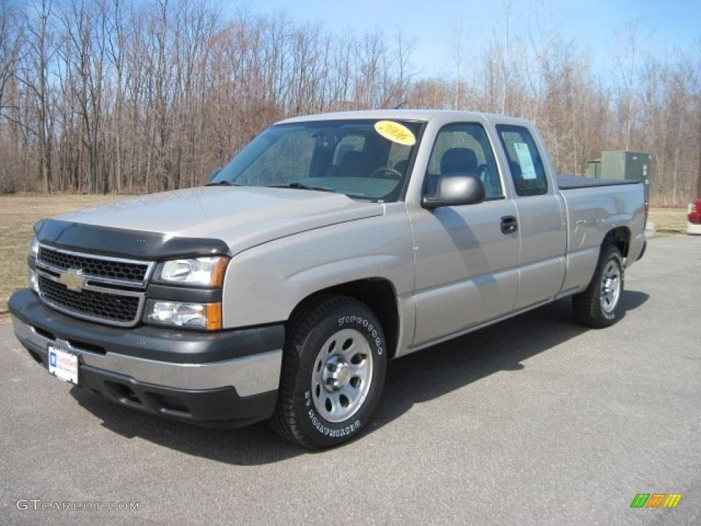2006 Chevrolet Silverado 1500 Work Truck 4dr Extended Cab: 2006 Silver Birch Metallic Chevrolet Silverado 1500 Work