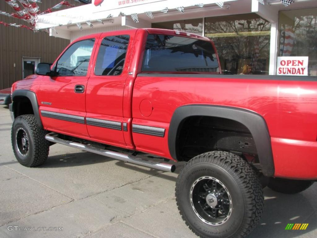 2001 victory red chevrolet silverado 2500hd ls extended. Black Bedroom Furniture Sets. Home Design Ideas