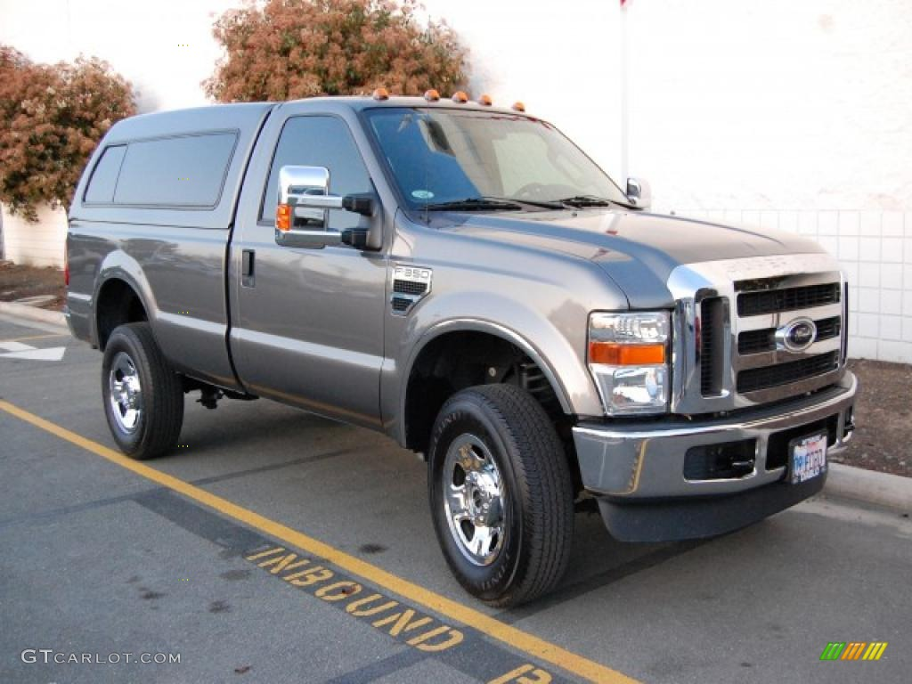 2009 f350 super duty xlt regular cab 4x4 sterling grey metallic medium stone photo