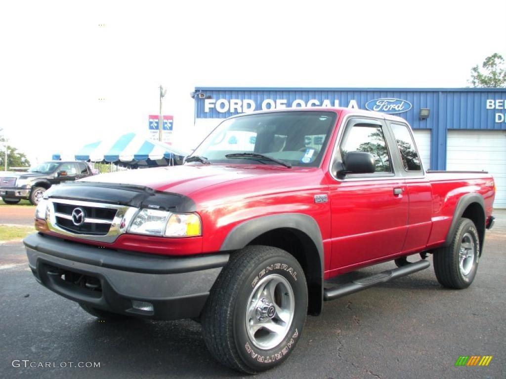 2001 b series truck b3000 se cab plus 4x4 sunburst red metallic medium
