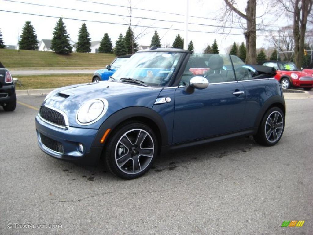 2010 Cooper S Convertible Horizon Blue Metallic Grey Carbon Black Photo 1