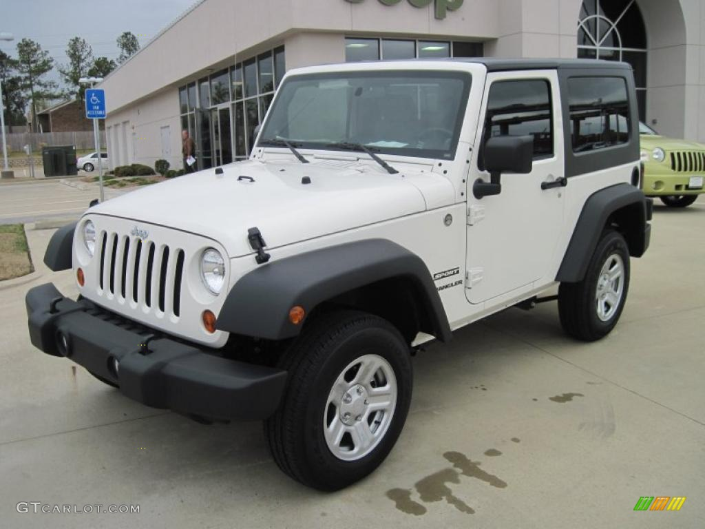 2010 Wrangler Sport 4x4   Stone White / Dark Slate Gray/Medium Slate Gray  Photo