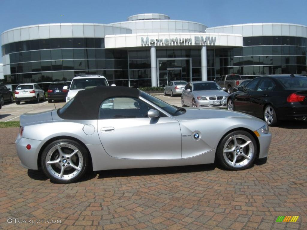 2007 Titanium Silver Metallic Bmw Z4 3 0si Roadster 27771319 Gtcarlot Com Car Color Galleries