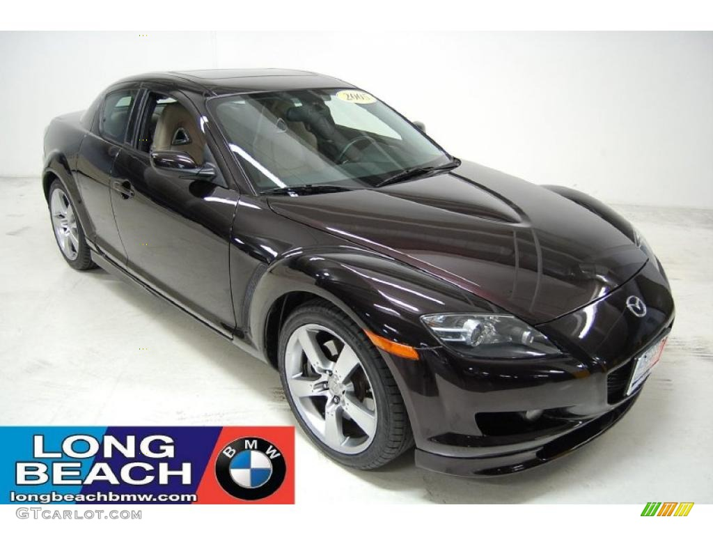 2005 RX-8 Shinka Special Edition - Black Cherry Mica / Parchment photo #1