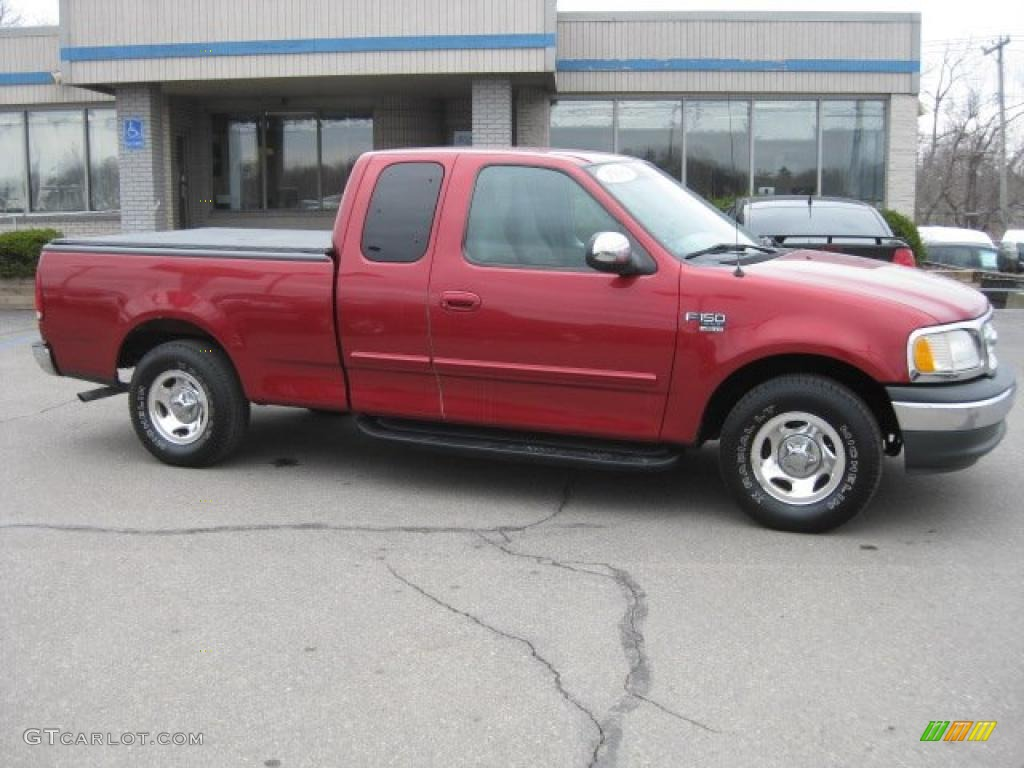 1999 Dark Toreador Red Metallic Ford F150 Xlt Extended Cab