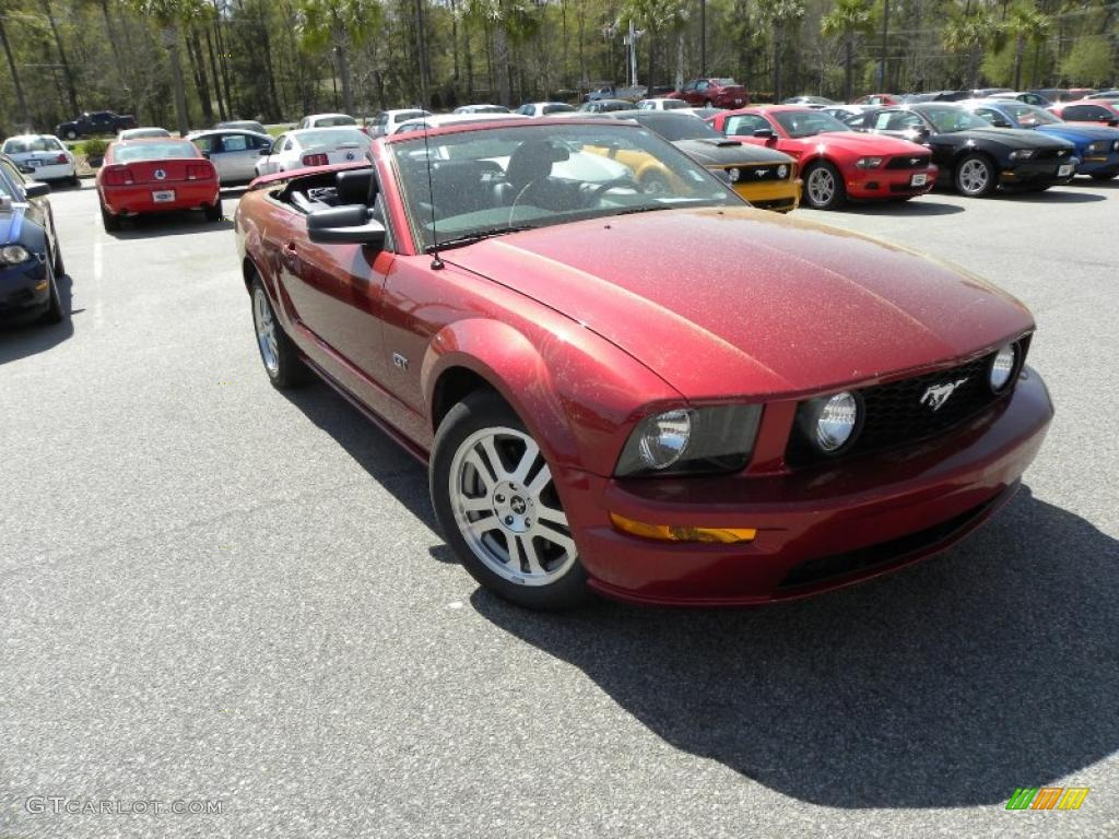 2006 Mustang GT Premium Convertible - Redfire Metallic / Dark Charcoal photo #1