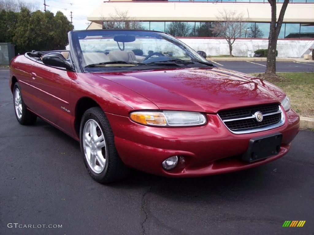 1997 Indy Red Chrysler Sebring Jxi Convertible 27850706
