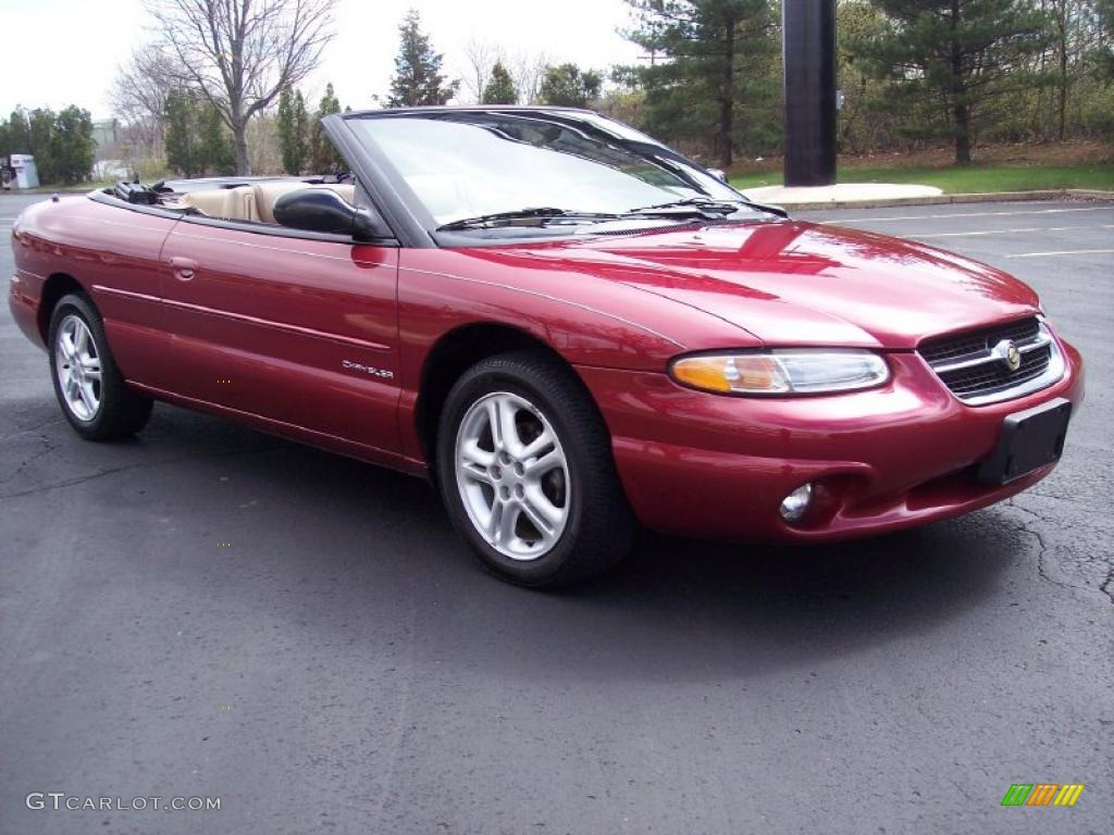 1997 Indy Red Chrysler Sebring Jxi Convertible 27850706 Photo 21