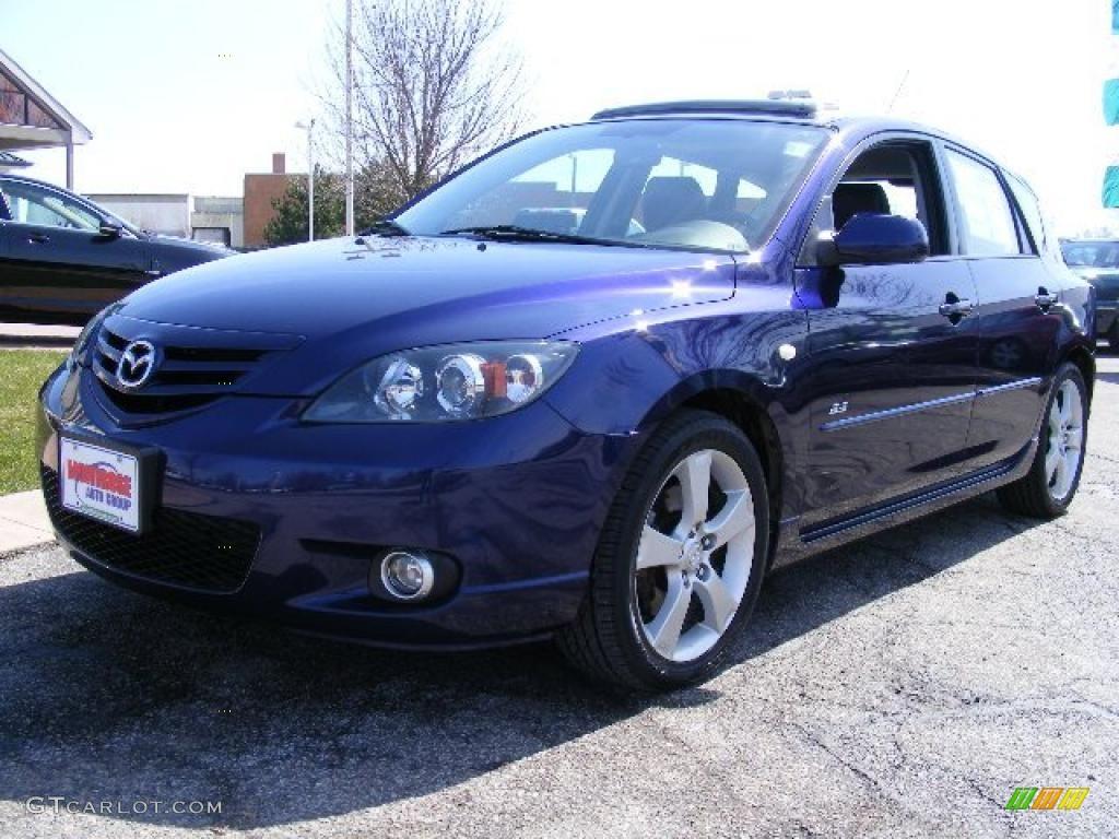 2005 strato blue mica mazda mazda3 s hatchback 27850291. Black Bedroom Furniture Sets. Home Design Ideas