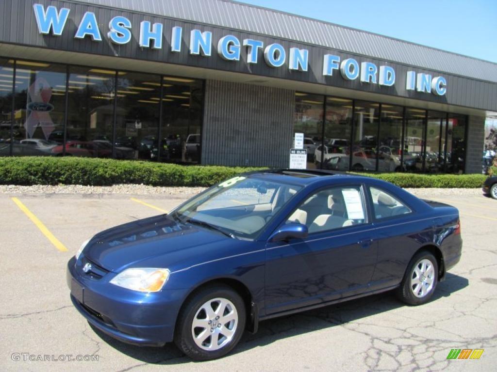 Nice Eternal Blue Pearl Honda Civic. Honda Civic EX Coupe