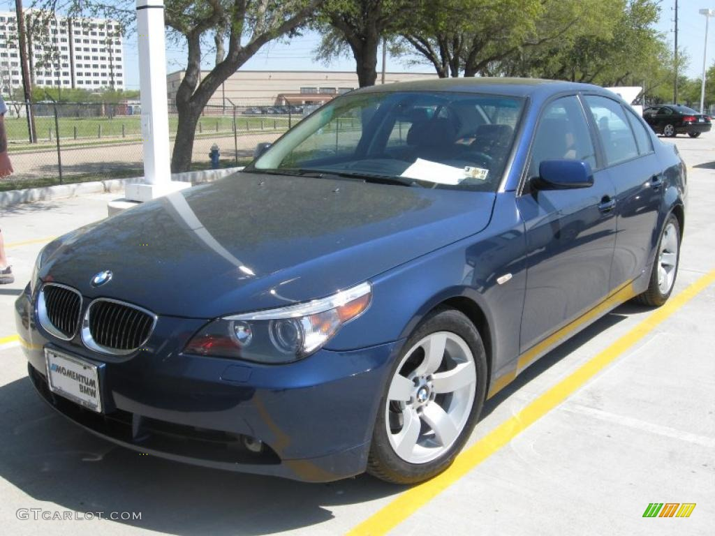 2007 Bmw 5 Series Blue 200 Interior And Exterior Images