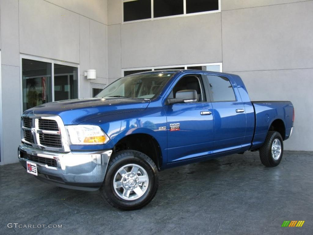 2010 Deep Water Blue Pearl Dodge Ram 2500 Slt Mega Cab 4x4 27850344 Gtcarlot Com Car Color Galleries