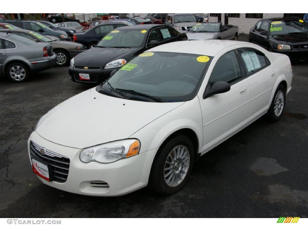 2004 stone white chrysler sebring lx sedan 27850674. Black Bedroom Furniture Sets. Home Design Ideas