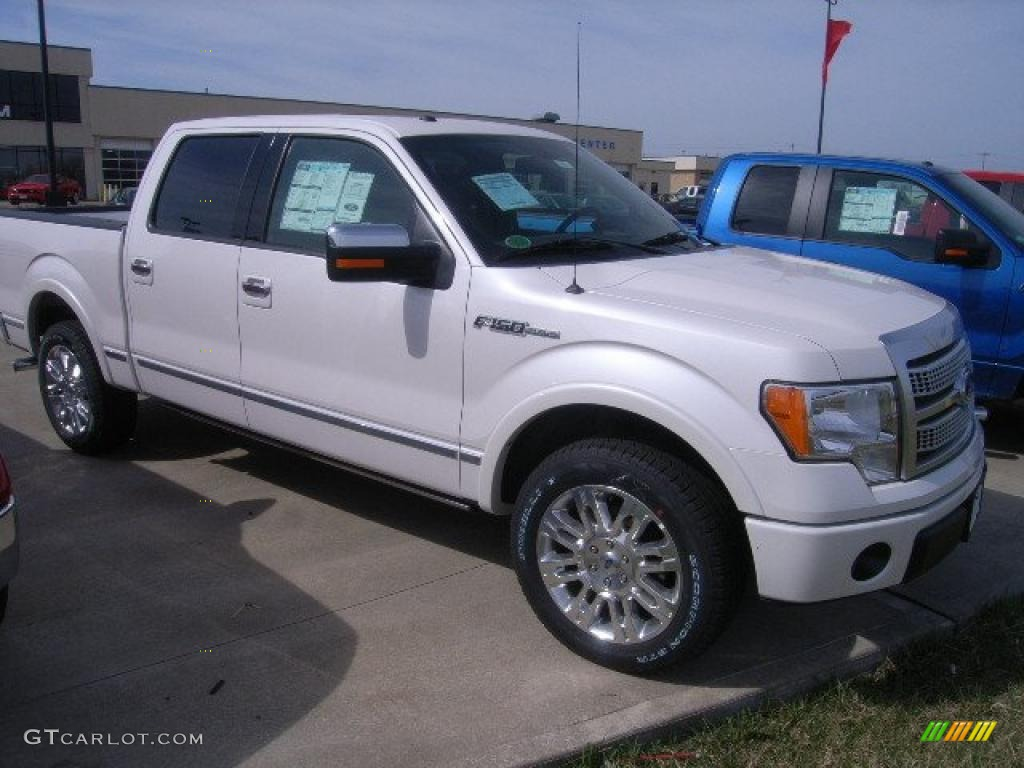 White Platinum Metallic Tri Coat Ford F150