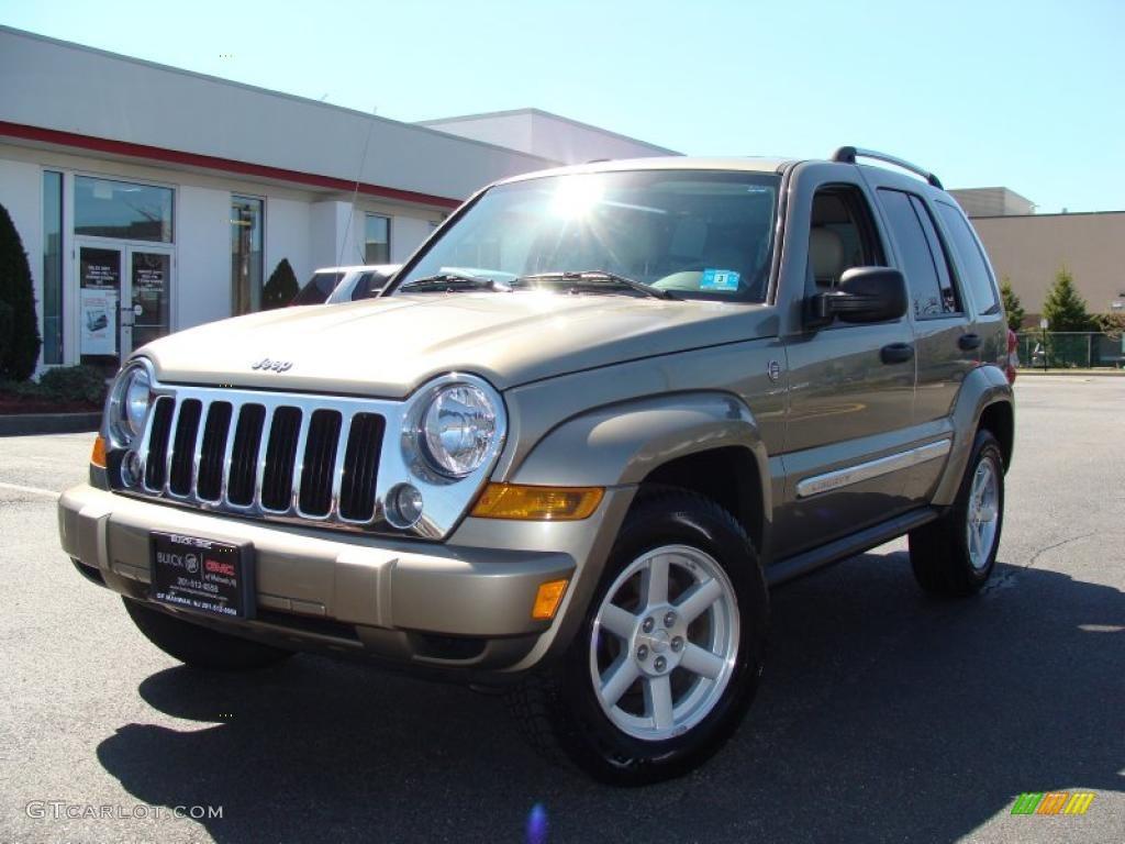 Light khaki metallic jeep liberty