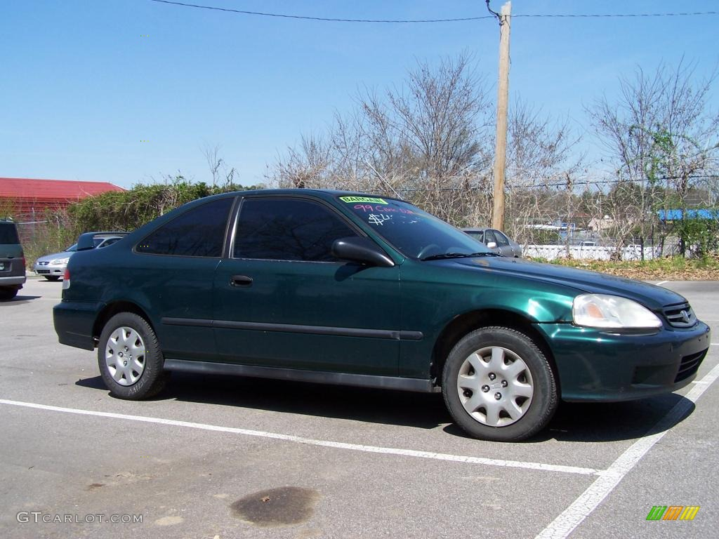 1999 Clover Green Pearl Honda Civic Dx Coupe 27919894 Photo 3